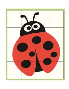 spring printables ladybug puzzle