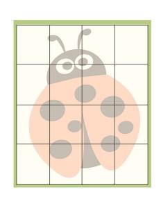 spring printables ladybug puzzles