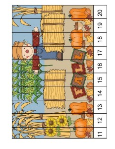 squence puzzle fall-autumn worksheets