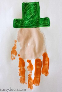 st patrick handprint craft