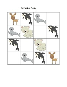 sudoku arctic animals