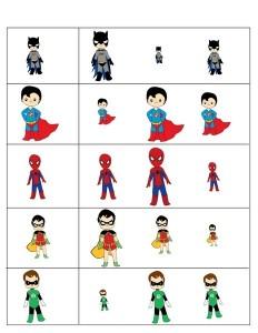 superheroes worksheets