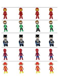 superheroes worksheets (2)