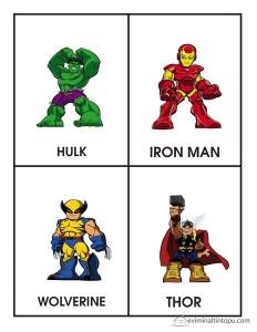 superheroes worksheets chracters