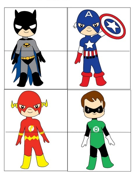Superheroes Worksheets For Kds Cool Puzzle
