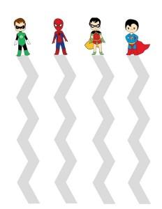 superheroes worksheets cutting