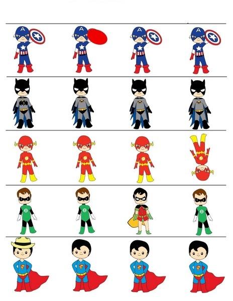superheroes worksheets difference funnycrafts. Black Bedroom Furniture Sets. Home Design Ideas