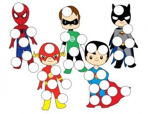 superheroes worksheets do a dot