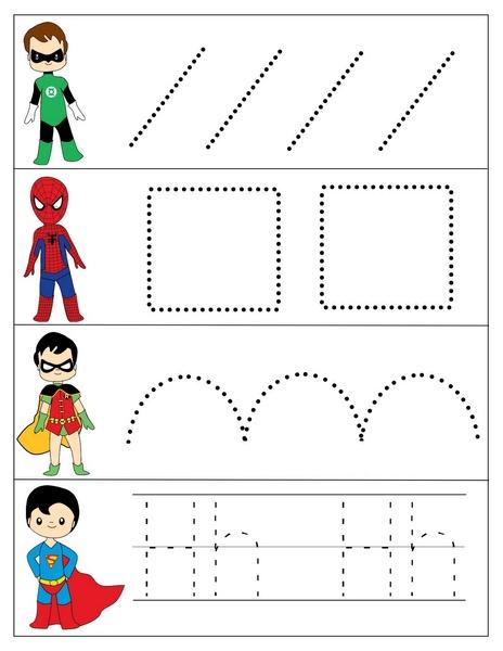 Superheroes Worksheets for Kıds » superheroes worksheets line