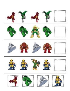 Superheroes Worksheets For Kids on Preschool Graphing Ideas