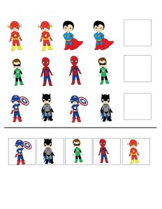 Superheroes Worksheets For Kıds Funnycrafts