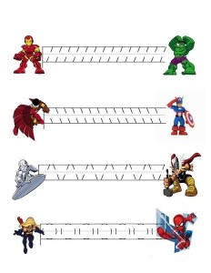 superheroes worksheets pre writing activity