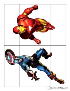 superheroes worksheets puzzle