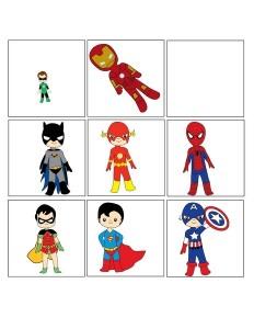 superheroes worksheets shadow