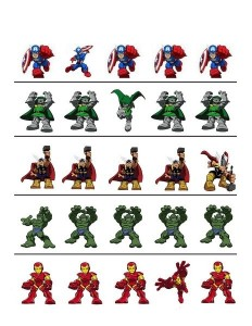 superheroes worksheets which one of difference