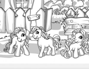 sweet pony coloring
