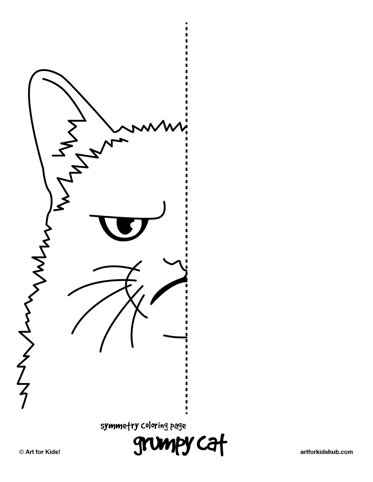 Symmetry Grumpy 171 Funnycrafts Symmetry Coloring Pages