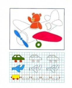 tracing line and coloring plane