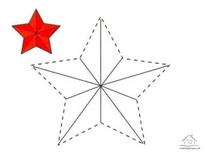 tracing line and coloring star