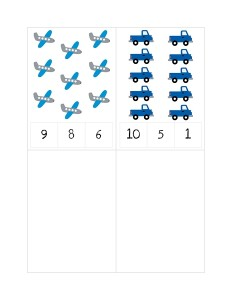 transportation printables math