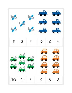 transportation printables number sheets