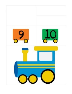 transportation printables number train