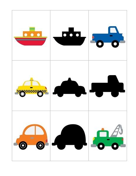 Transportation Printables Shadow Funnycrafts