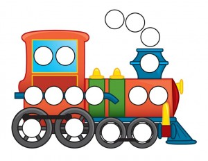transportation printables train do a dot