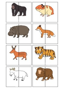 two piece animals puzzle