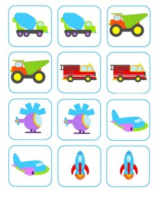 vehicles memory game activities (3)