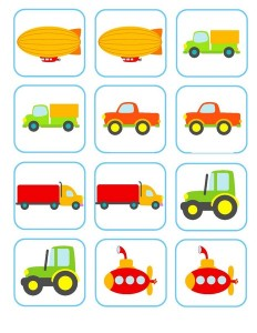 vehicles memory game activities (5)
