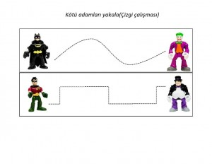 Batman pre writing activities