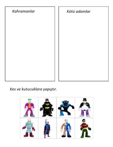 Batman sorting printable