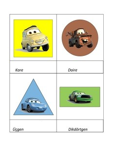 Lightning Mcqueen shapes activities (3)