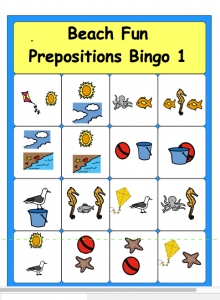 Prepositions bingo cards for kıds (1)