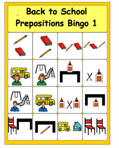 Prepositions bingo cards for kıds (2)