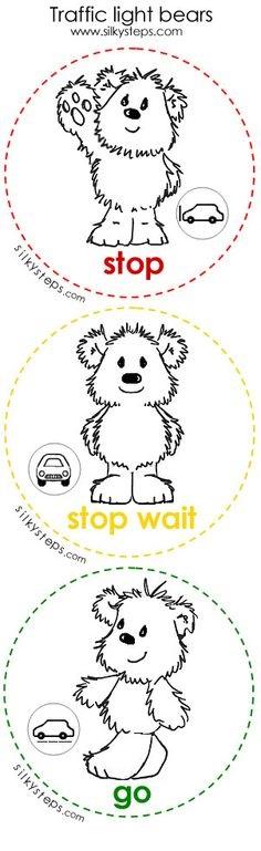 Traffic light bear worksheets u00ab funnycrafts