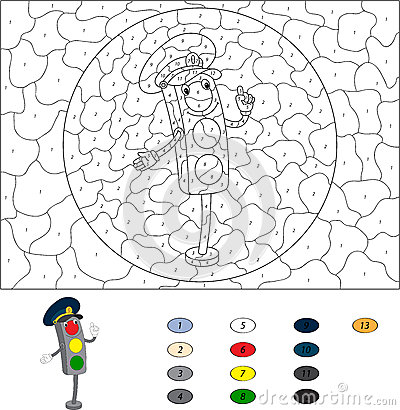 Traffic light coloring pages funnycrafts for Traffic light signs coloring pages