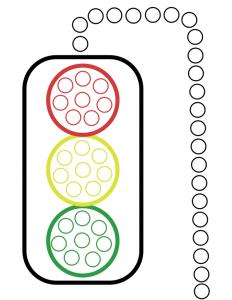 Traffic light do a dot worksheet