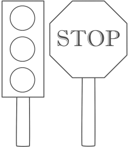 Traffic light stop sign coloring