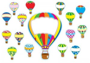air balloon color activity