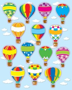air balloon color matching activity