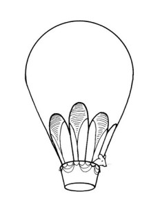 air balloon coloring page