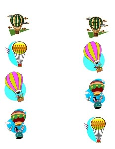 air balloon matching activity