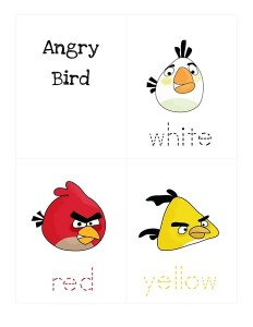 angry birds cards