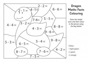 Basic math coloring sheets coloring pages multiplication for Division facts coloring page