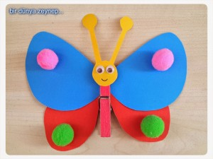 cool butterfly crafts for kıds (1)