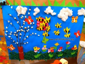 corn spring tree craft