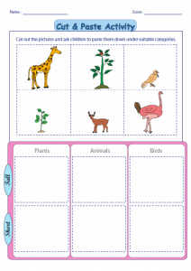 cut and paste worksheets for kıds (5)