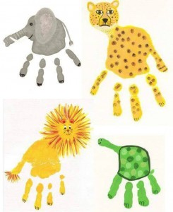 cute handprint art ıdeas for kids (6)